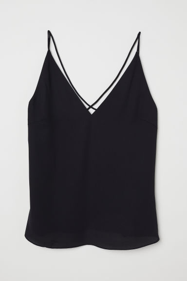 V-neck top - Black - Ladies | H&M