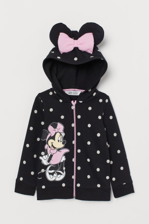 Hooded Top with Appliqués