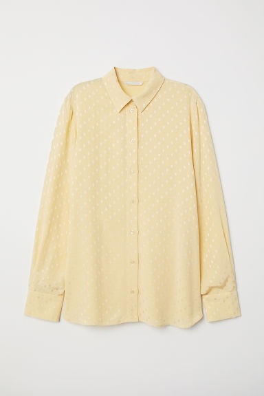Camicia increspata - Giallo chiaro - DONNA | H&M IT