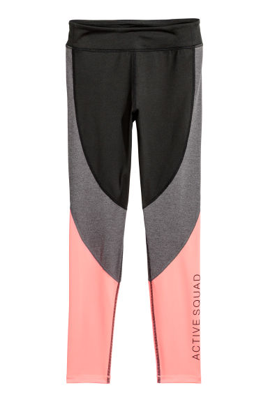 Sportlegging - Zwart/lichtkoraal -  | H&M BE