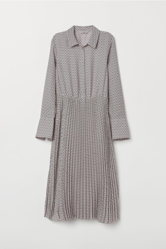 035a19d1d8 Pleated Dress - Light pink/patterned - Ladies   H&M ...