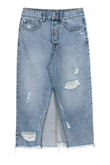 Denim skirt - Light denim blue - Ladies | H&M