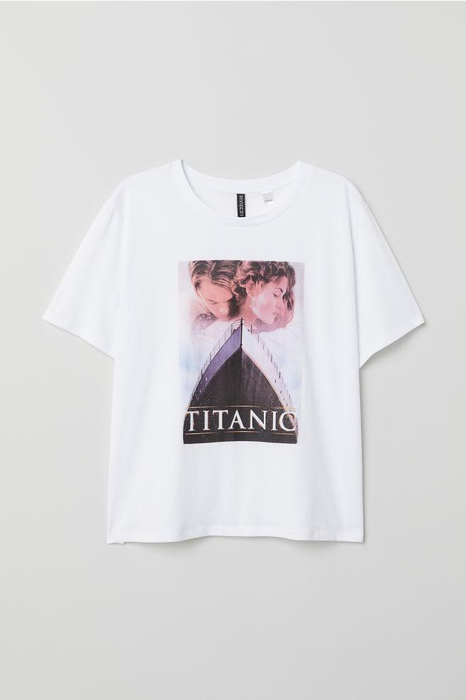 H M+ Nyomott mintás póló - Fehér Titanic - NŐI  10d51ef397