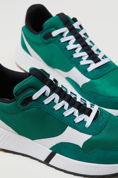 Mesh trainers - Green - Men | H&M