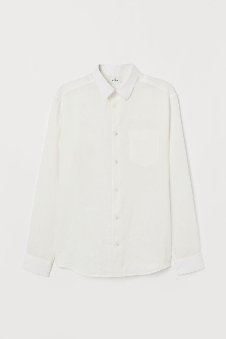 Linen shirt - White -  | H&M