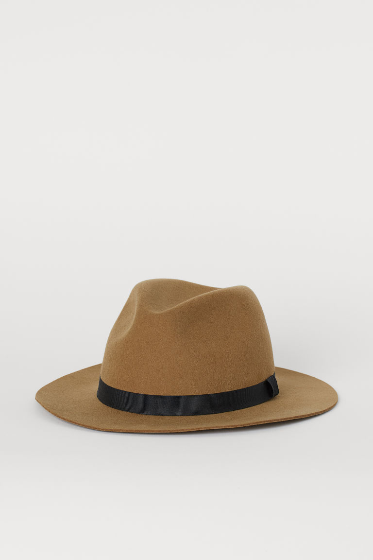 Felted wool hat - Dark beige - Men | H&M CN