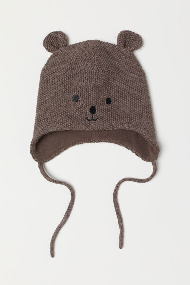 Knitted hat - Brown/Bear - Kids | H&M