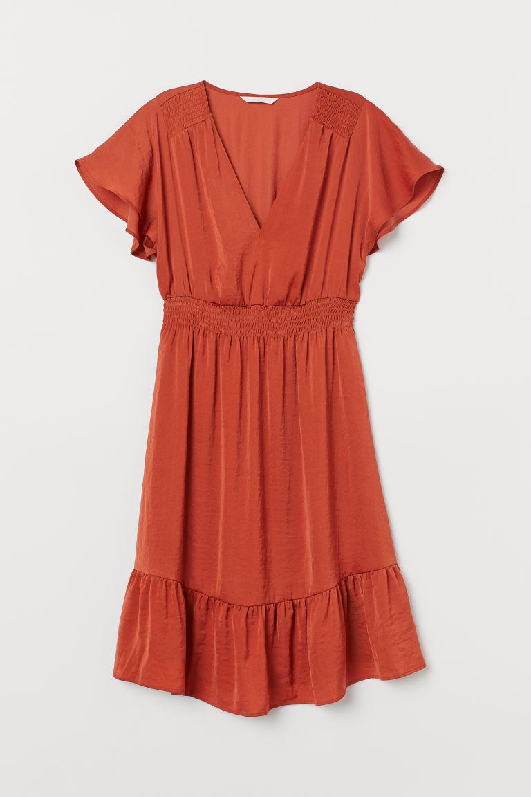 9b457e0ee43a MAMA Smockad klänning - Rost - DAM | H&M SE