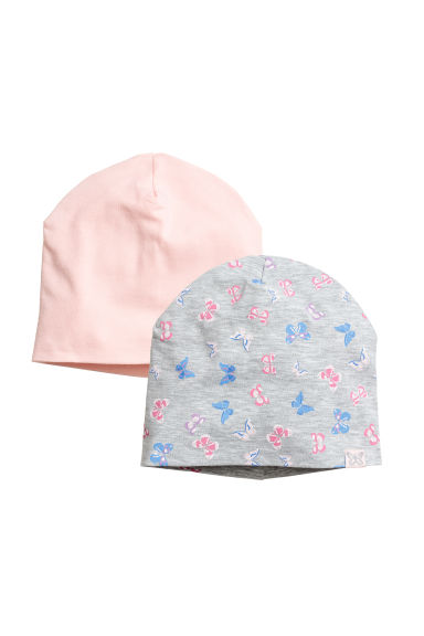 2-pack jersey hats - Light grey/Butterflies -  | H&M CN