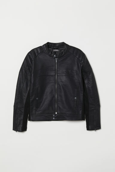 Biker jacket - Black - Men | H&M
