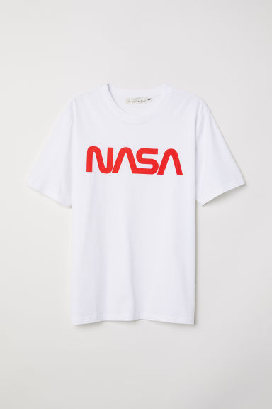 T-shirt met print - Wit/NASA - HEREN | H&M BE