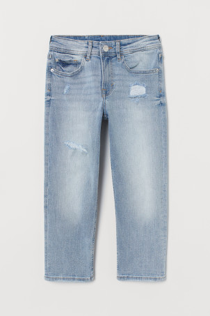 Relaxed Cropped Jeans