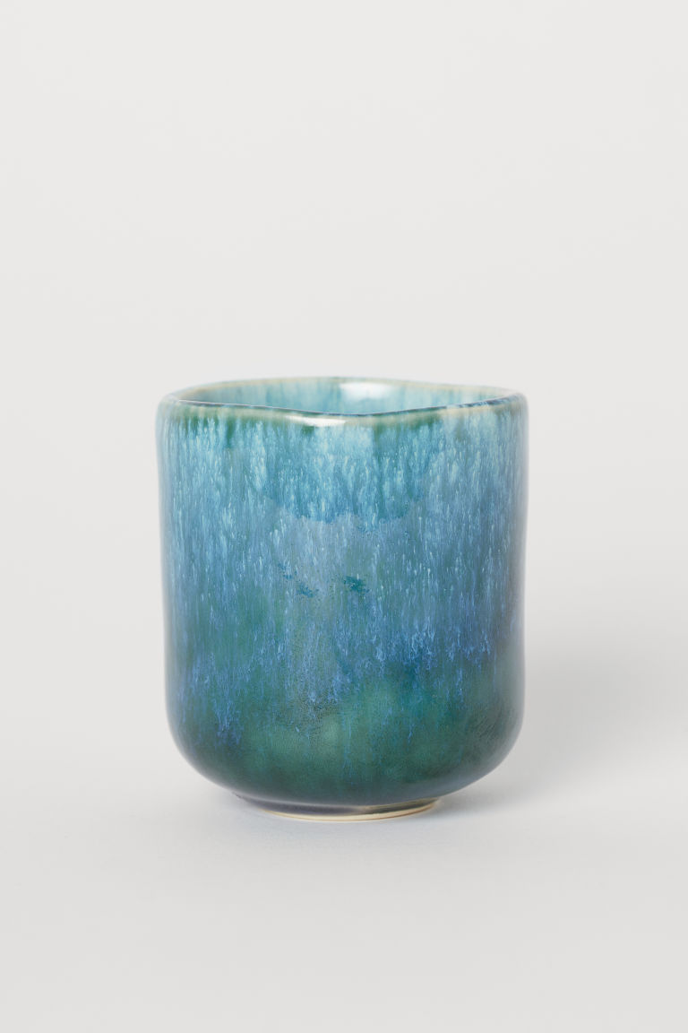 Stoneware cup - Blue-green - Home All | H&M CN