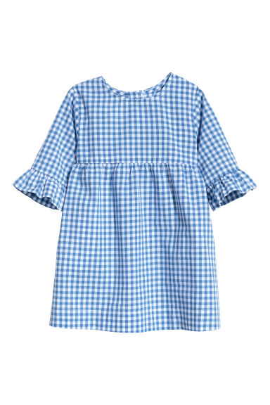Checked dress - Blue/White checked - Kids | H&M