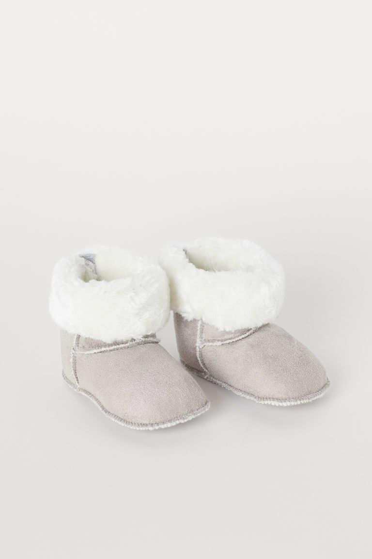Soft Slippers - Taupe - Kids | H&M US