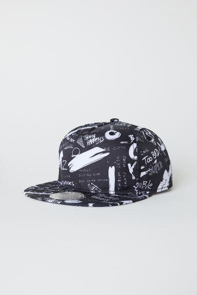 Cap with embroidery - Black/Patterned - Kids | H&M CN