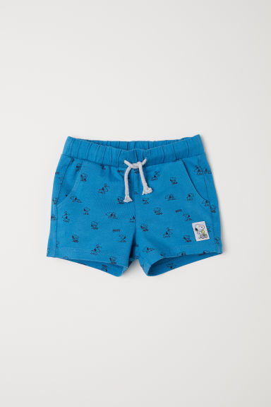 Printed jersey shorts - Blue/Snoopy -  | H&M