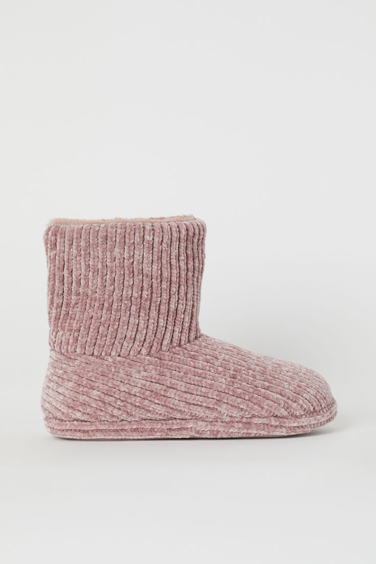 Pantuflas de chenilla - Rosa antiguo - Ladies | H&M US