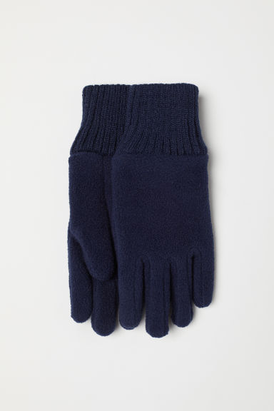 Fleece gloves - Dark blue - Kids | H&M