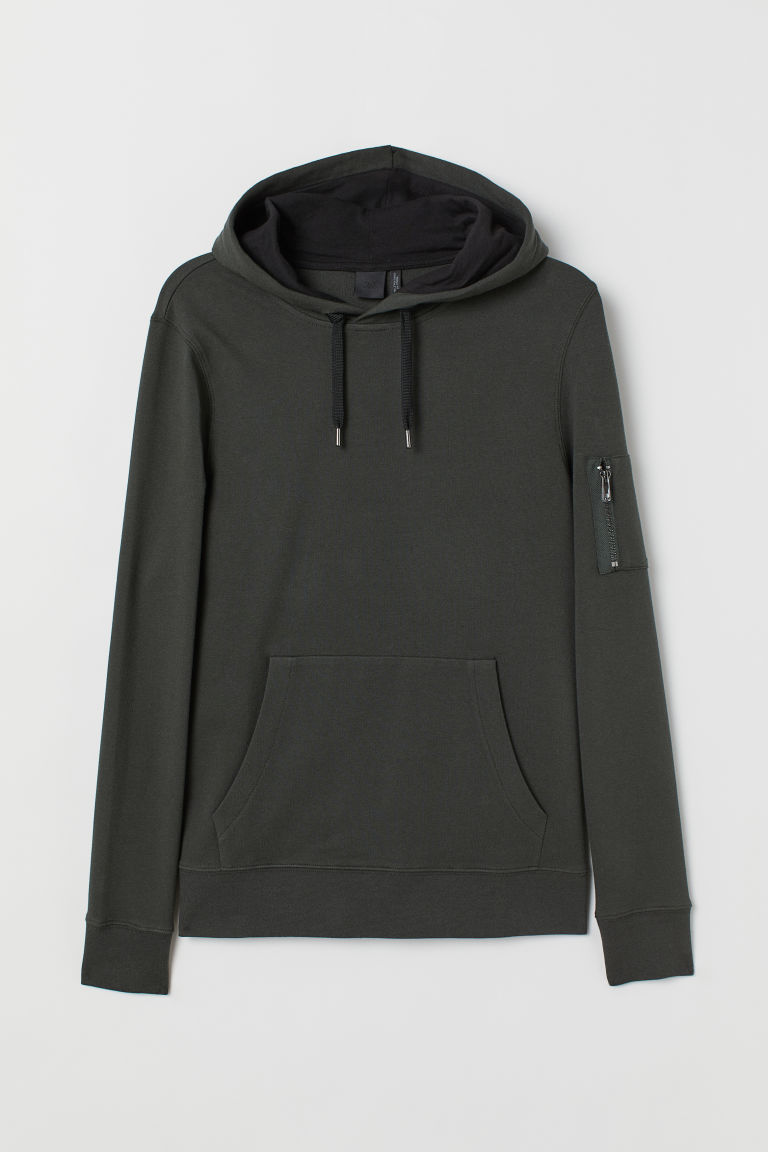 Sudadera Muscle Fit - Verde oscuro -  | H&M ES