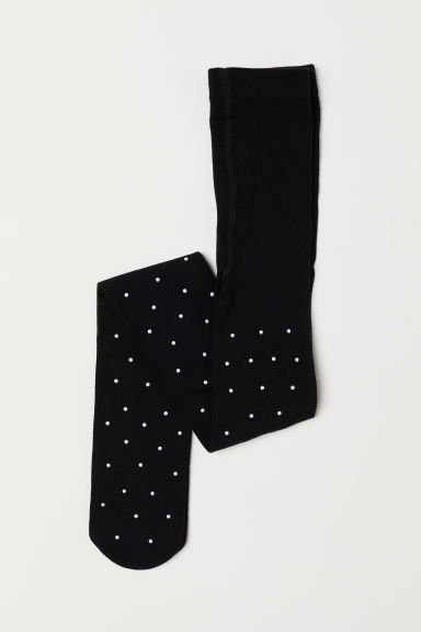 Tights with sparkly stones - Black - Kids | H&M CN