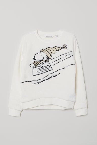 Pile top - White/Snoopy - Kids | H&M