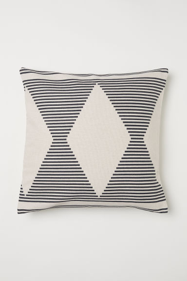 Patterned cotton cushion cover - Natural white/Patterned - Home All | H&M CN