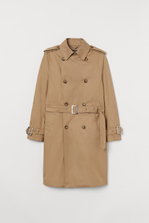 Cotton twill trenchcoat