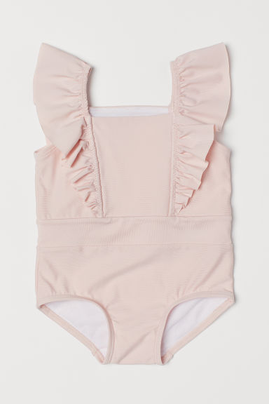 Swimsuit with frills - Light pink - Kids | H&M CN