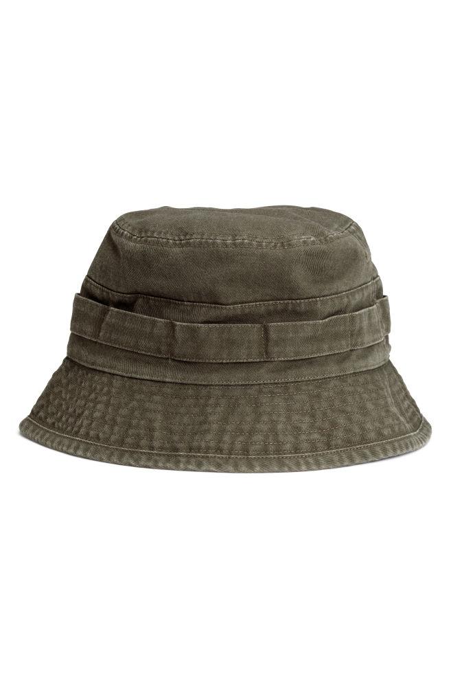 c52ae995b Keprový rybársky klobúk - tmavá kaki - MUŽI   H&M ...