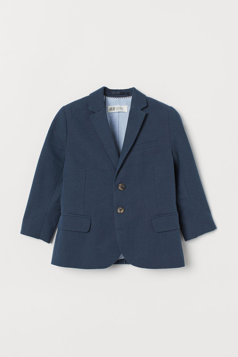 Cotton jacket - Dark blue/Spotted - Kids | H&M IN