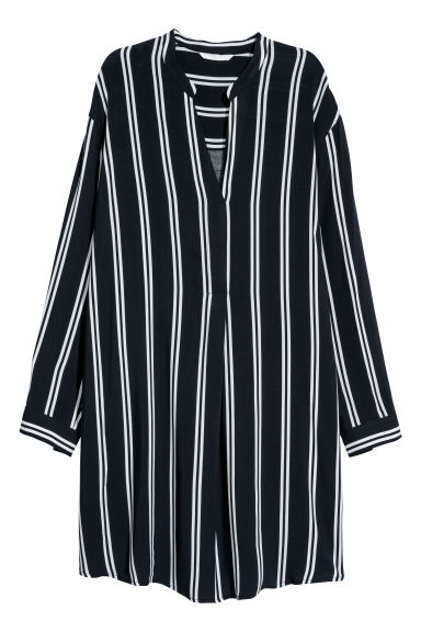 Tunic - Dark blue/White striped -  | H&M