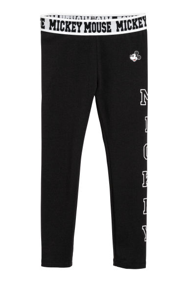 Leggings con stampa - Nero/Topolino -  | H&M IT