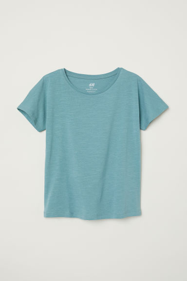 Cotton jersey T-shirt - Turquoise - Kids | H&M CN