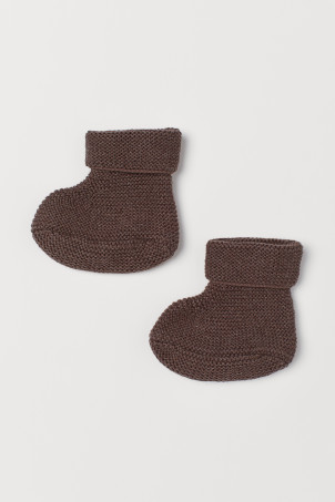 Knit Slipper Socks