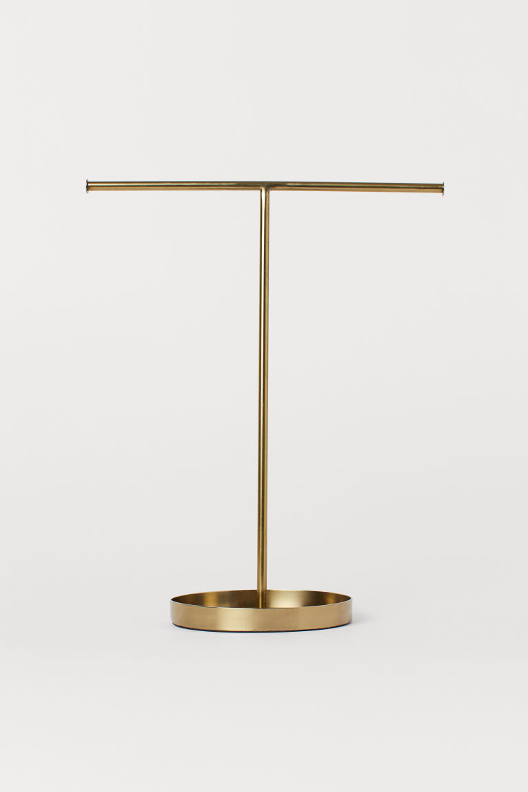 Metal Jewelry Stand Gold Colored