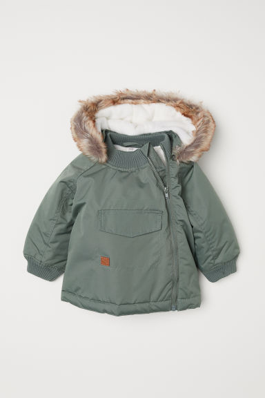 Padded outdoor jacket - Khaki green - Kids | H&M
