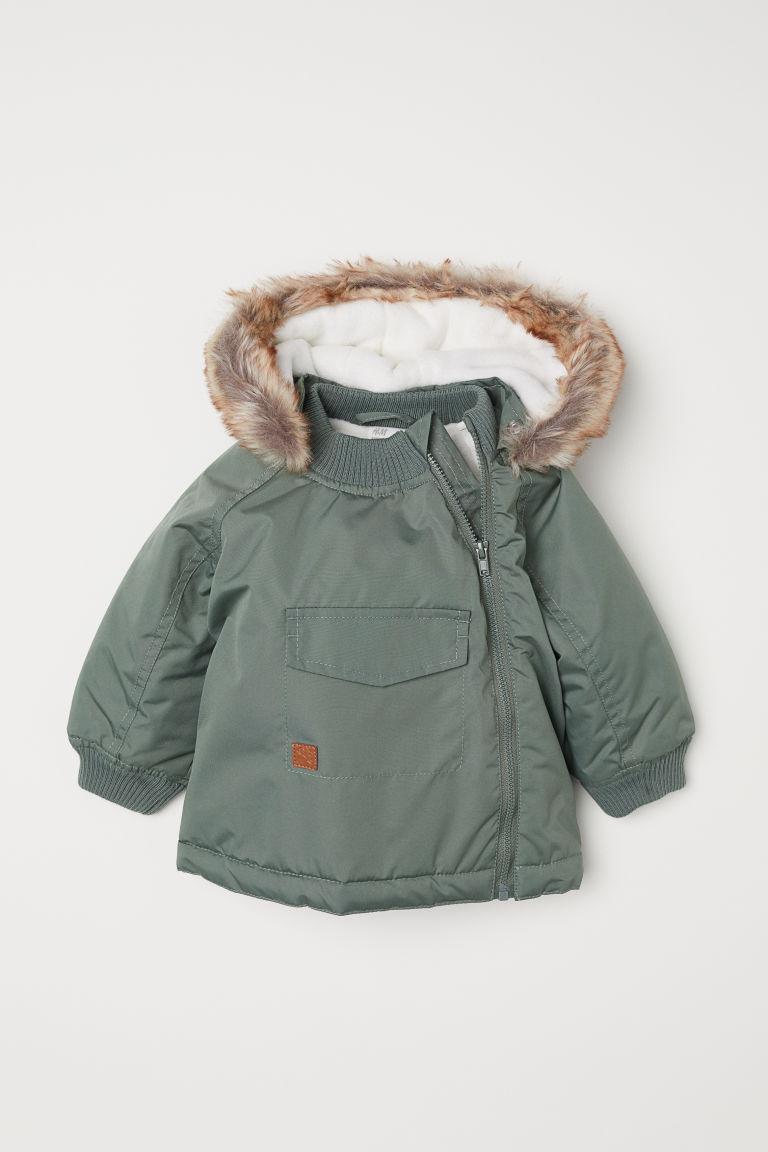 Padded Outdoor Jacket - Khaki green - Kids | H&M US 1