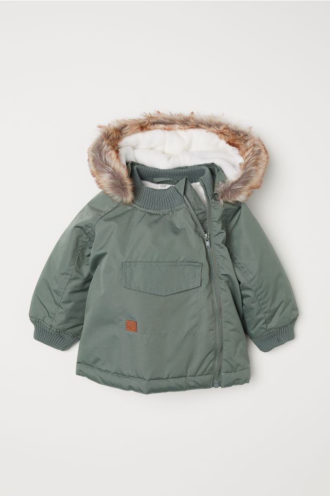 980307885983 Padded Outdoor Jacket - Khaki green - Kids