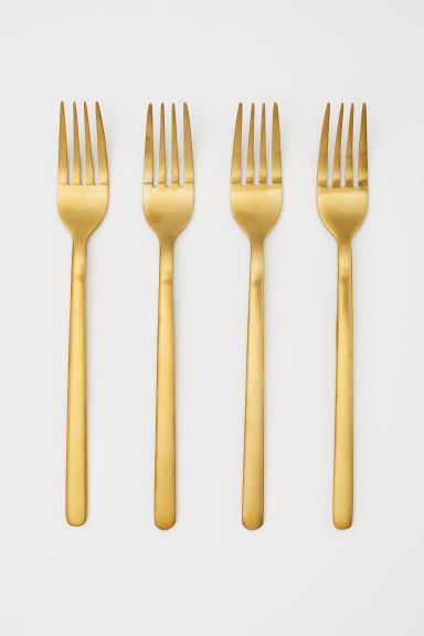 4-pack forks - Gold-coloured - Home All | H&M GB