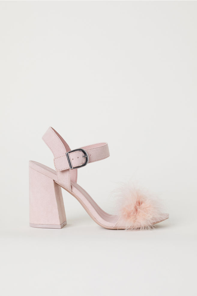 a2271ebfd75 Block-heeled Sandals - Light pink -