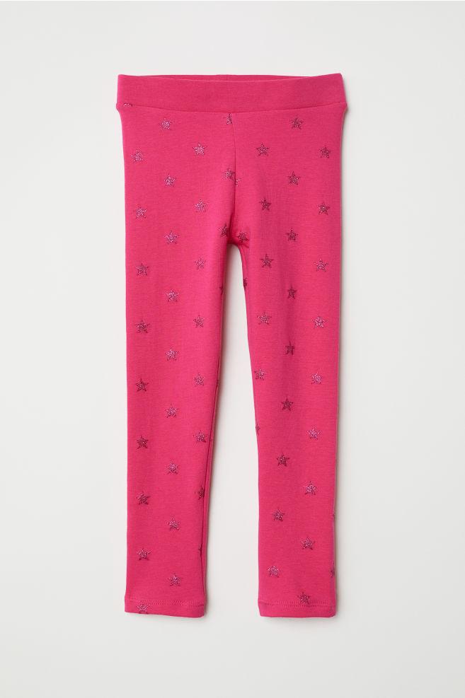 1687fa46e1b Thick Jersey Leggings - Cerise stars - Kids