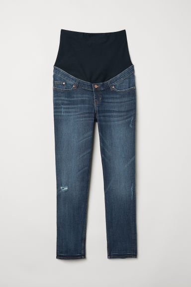 MAMA Boyfriend Jeans - Dark denim blue - Ladies | H&M US