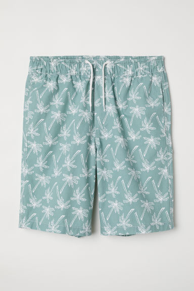 Knee-length cotton shorts - Dusky green - Men | H&M CN