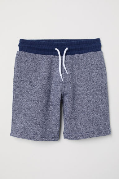 Shorts in felpa - Blu scuro mélange - BAMBINO | H&M IT