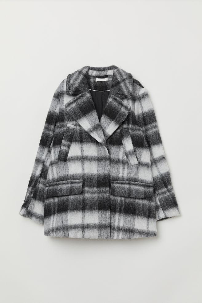 df2d3df5 Dobbelspent jakke - Sort/Hvit rutet - DAME | H&M ...