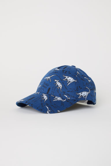 Patterned cap - Dark blue/Dinosaurs - Kids | H&M
