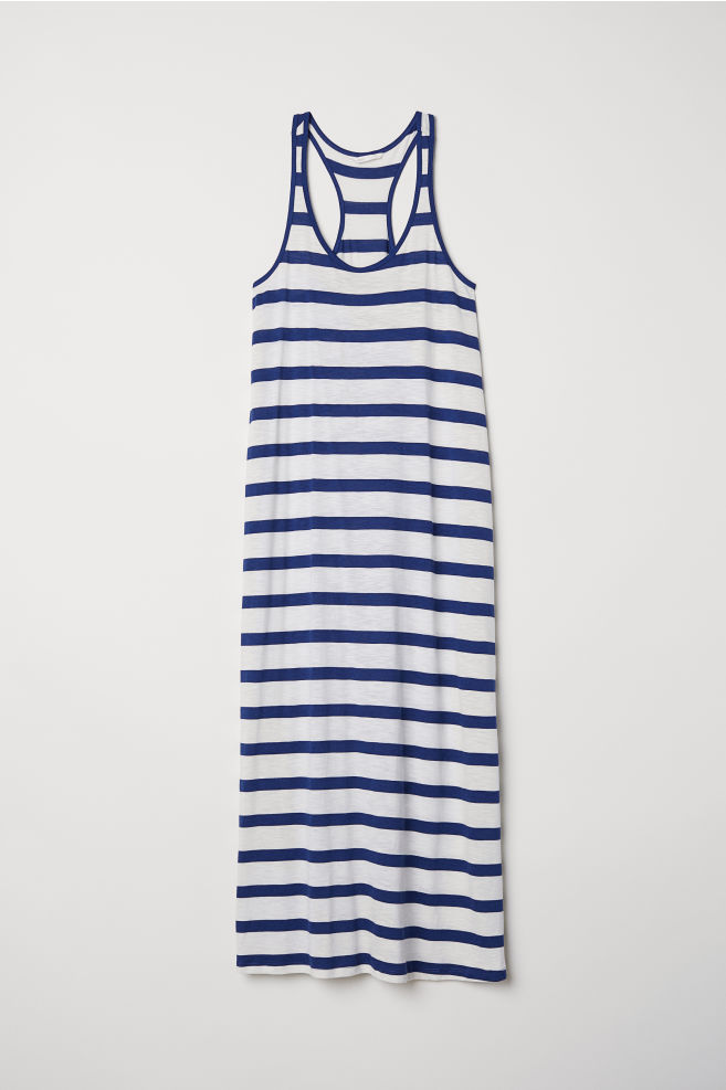 c70e86be5db97 Modal-blend jersey dress - Natural white/Blue striped - Ladies | H&M IN
