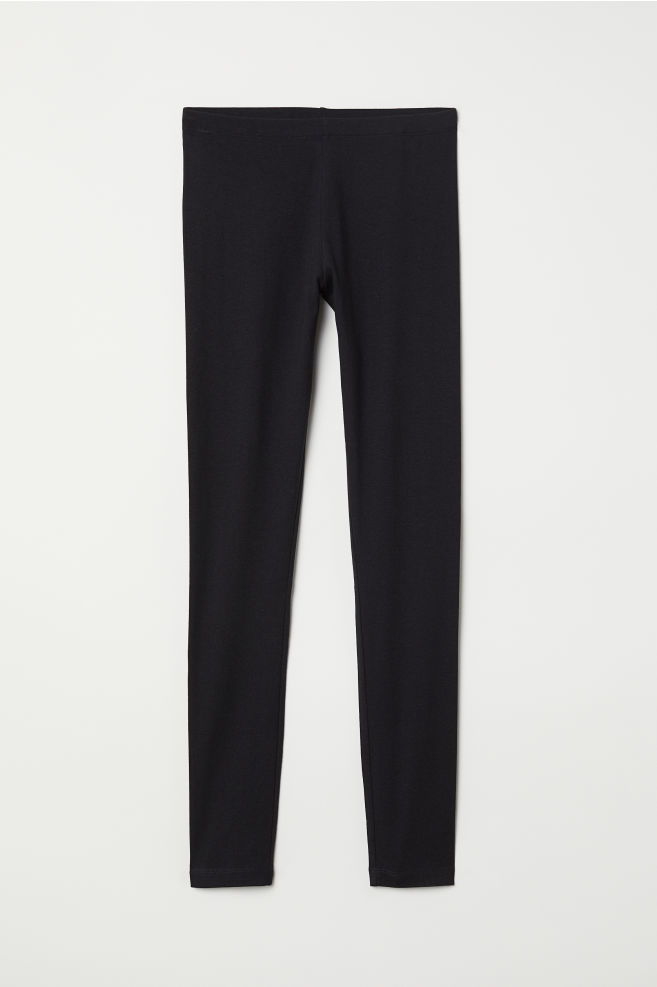 cce30d3d38f3b ... Jersey leggings - Black - Ladies | H&M ...