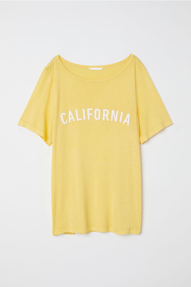 Póló motívummal - Sárga California - NŐI  063d316e38